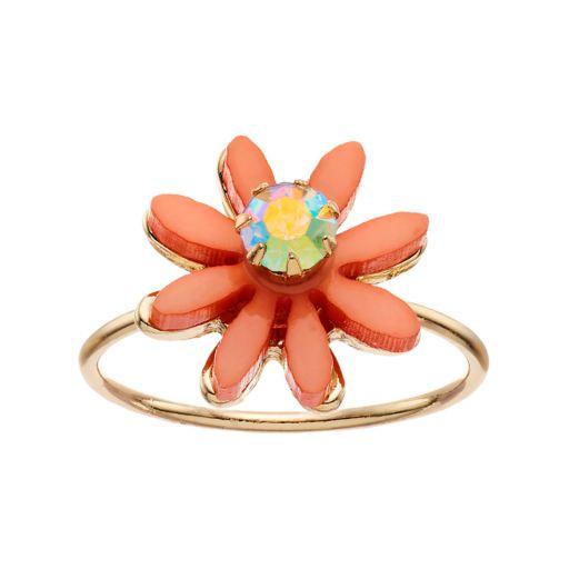 LC Lauren Conrad Peach Flower Ring