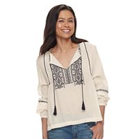 Petite SONOMA Goods for Life™ Embroidered Peasant Top
