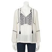 Women's SONOMA Goods for Life™ Embroidered Peasant Top