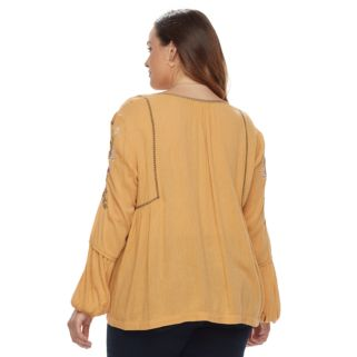 Plus Size SONOMA Goods for Life™ Embroidered Peasant Top
