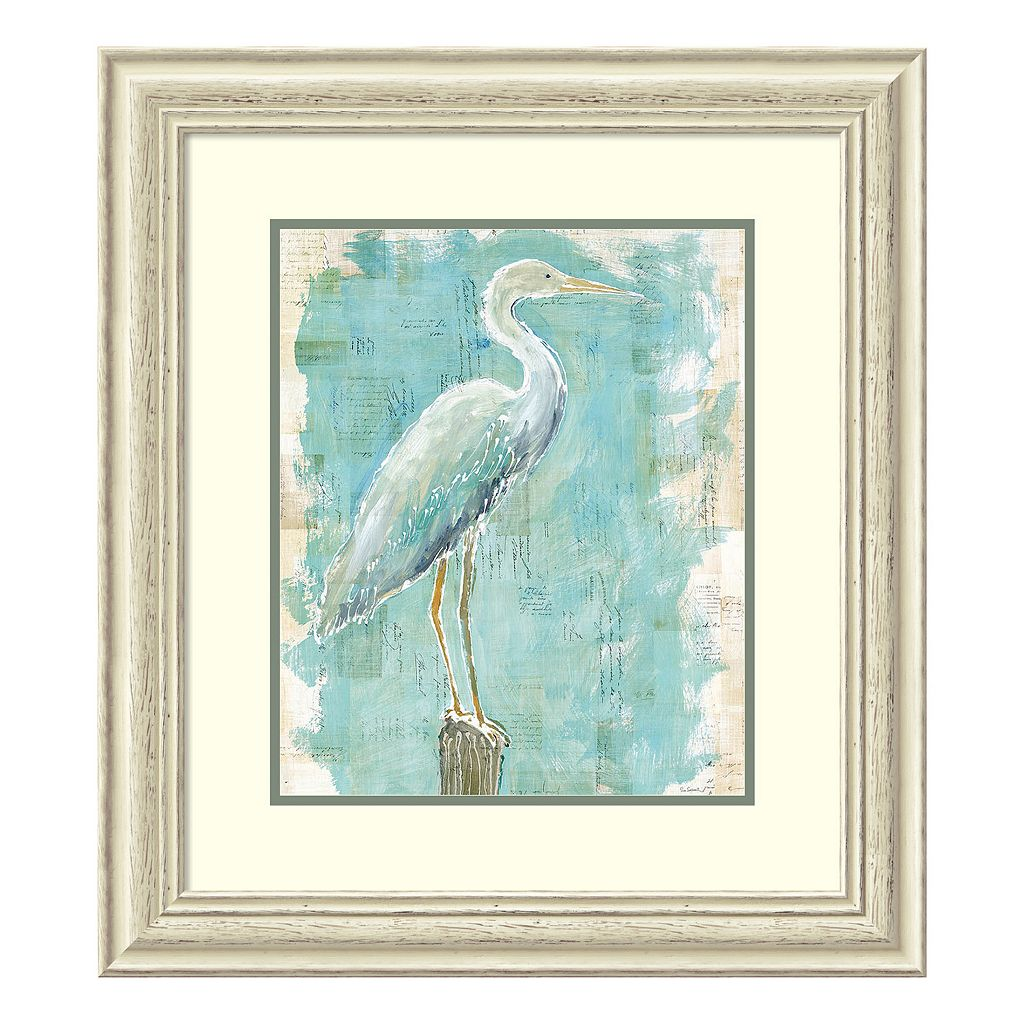 Amanti Art Coastal Egret I Framed Wall Art