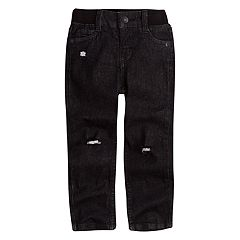 Toddler Boy Levi's My First Skinny Distressed Black Jeans