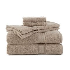 Martex 6-piece Staybright Solid Bath Towel Set