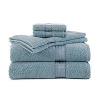 Martex 6-piece Staybright Solid Bath Towel Set