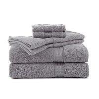 Martex 6 pc Staybright Solid Bath Towel Set