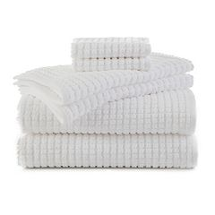 Martex 6 pc Staybright Texture Bath Towel Set
