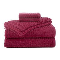 Martex 6-piece Staybright Texture Bath Towel Set
