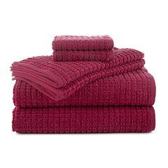 Martex 6 pc Staybright Texture Bath Towel Set