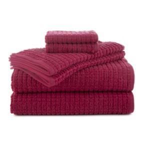 Martex 6-piece Staybright Texture Bath Towel Set