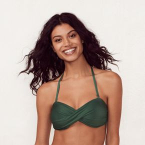 Women's LC Lauren Conrad Beach Shop Twist Bandeau Bikini Top