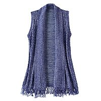 Girls 7-16 Cloud Chaser Fringe Knit Sweater