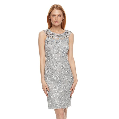 Women's Jessica Howard Floral Applique Sheath Dress