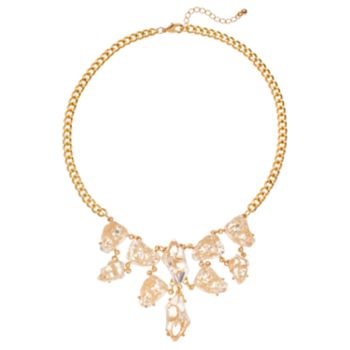 White Simulated Drusy Necklace