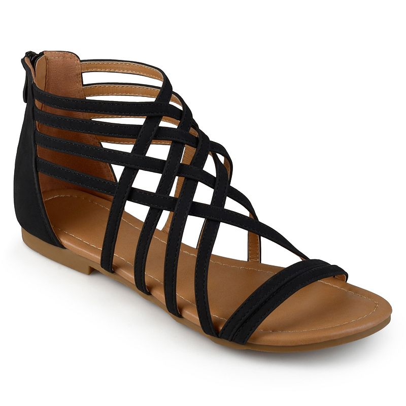 Journee Collection Hanni Women's Sandals. Girl's. Size: 5.5. Black