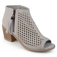 Journee Collection Pixie Women's Peep Toe Ankle Boots