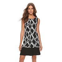 Women's Ronni Nicole Diamond Print Shift Dress