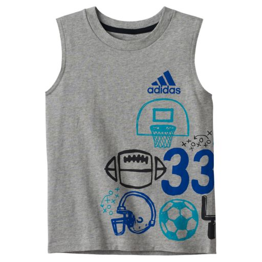 Boys 4-7x adidas Wrap-Around Graphic Tank Top