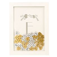 Cathy's Concepts Silver Finish Monogram Shadowbox Heart Drop Guestbook 101 pc Set