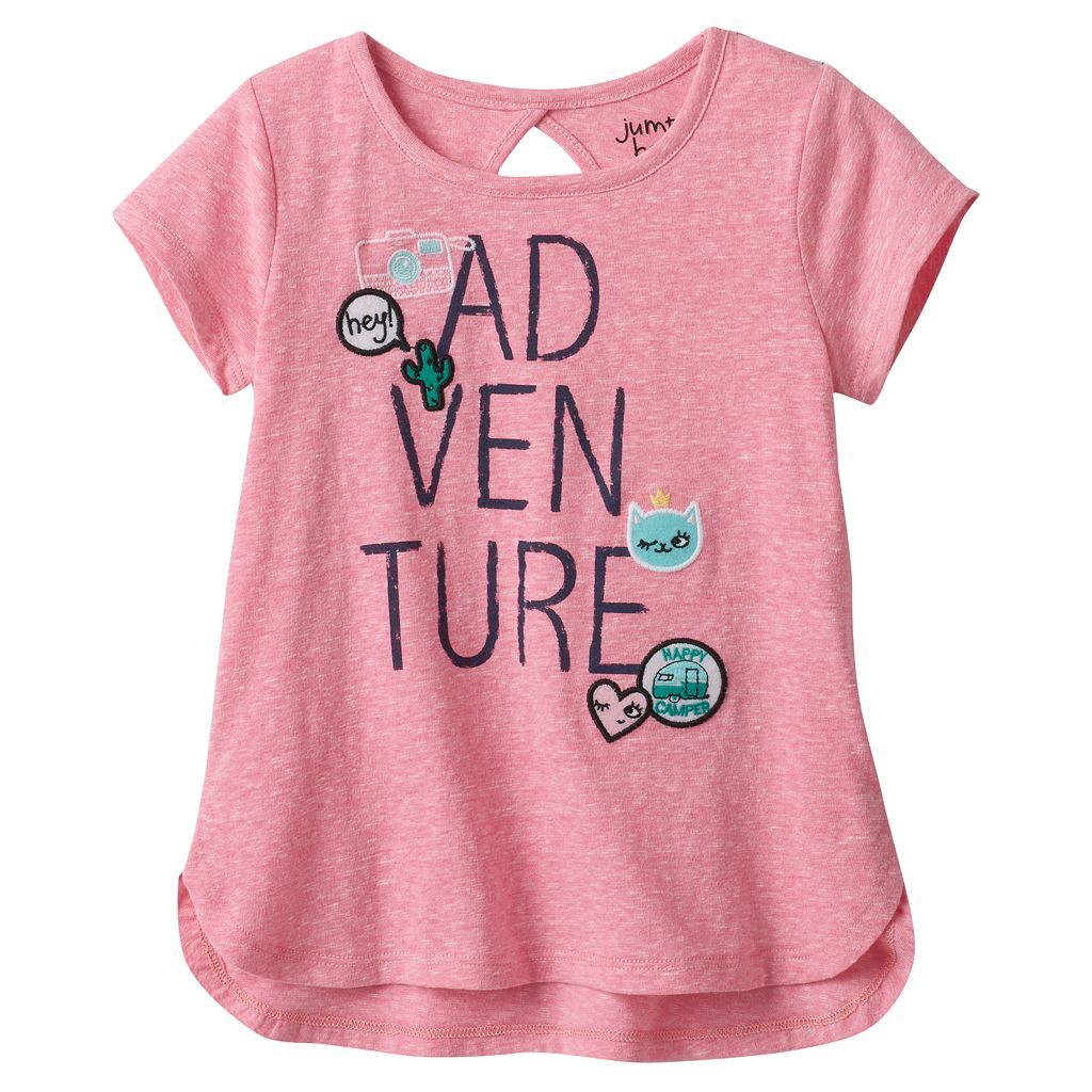 Toddler Girl Jumping Beans® Graphic Patches Cutout Tee