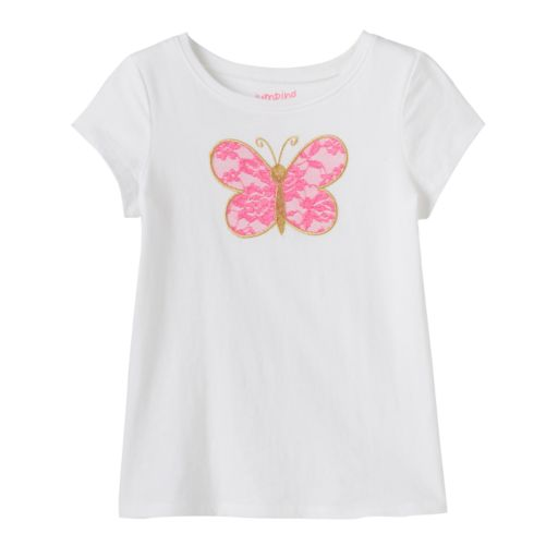 Baby Girl Jumping Beans® Applique Graphic Tee