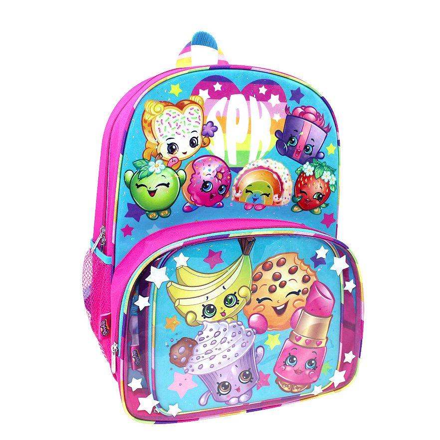 Shopkins Backpack   Lunch Tote Set 50072f5b40300