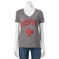 Juniors' Baywatch Logo V-Neck Graphic Tee