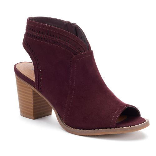 SONOMA Goods for Life™ Thelma Women's Peep Toe Ankle Boots
