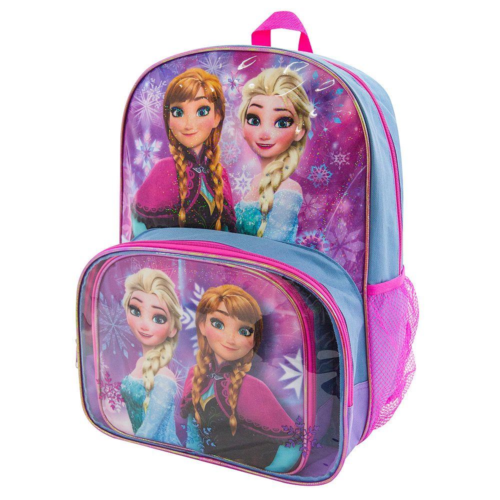 66e6a18e33f Disney s Frozen Anna   Elsa Backpack   Lunch Tote Set