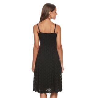 Women's Ronni Nicole Circle Lace Fit & Flare Dress