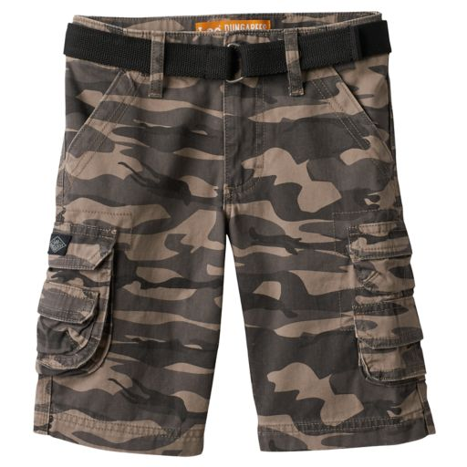 Boys 4-7x Lee Dungaree Shorts with Belt