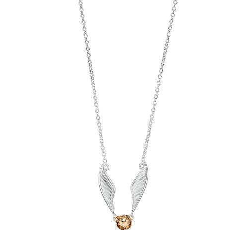Harry Potter Two Tone Silver Plated Quidditch Golden Snitch Necklace