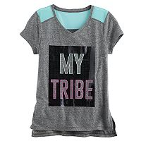 Girls 7-16 & Plus Size SO® Blocked Mesh Tee