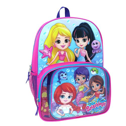 Splashlings Backpack & Lunch Tote Set