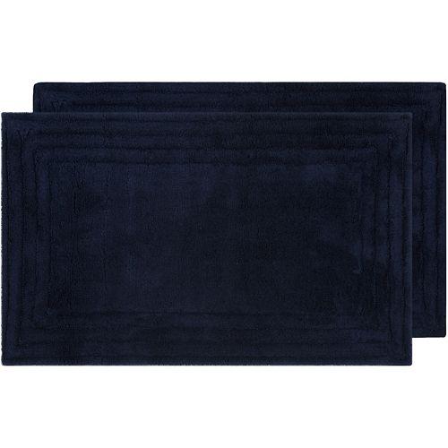 Safavieh 2-pack Luxe Striped Border Bath Rug Set - 21'' x 34''