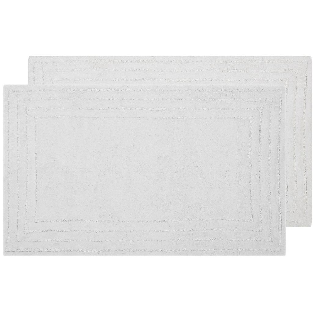Safavieh 2-pack Luxe Striped Border Bath Rug Set - 27'' x 45''