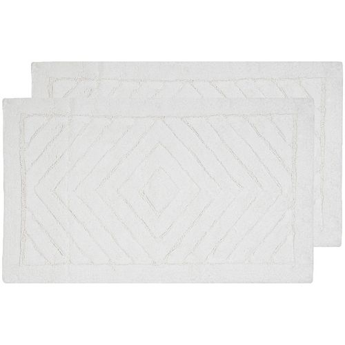 Safavieh 2-pack Marquis Diamond Geometric Bath Rug Set - 27'' x 45''
