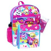 Shopkins 5 pc Backpack Set