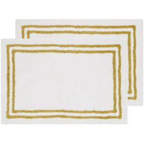 Safavieh 2-pack Candy Stripes Framed Bath Rug Set - 24'' x 36''