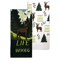 Celebrate Local Life Together Life is Good in the Woods Kitchen Towel