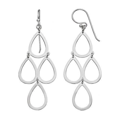 PRIMROSE Sterling Silver Teardrop Kite Earrings