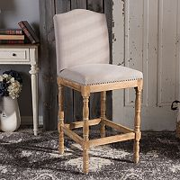 Baxton Studio Paige French Country Bar Stool