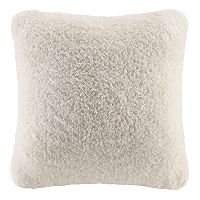 Cuddl Duds Solid Sherpa Fleece Throw Pillow