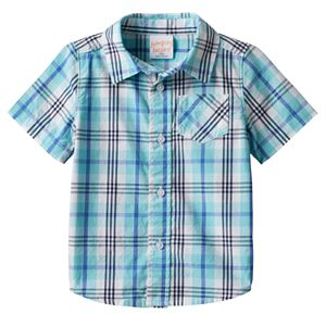 Toddler Boy Jumping Beans® Plaid Button-Front Shirt