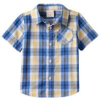 Toddler Boy Jumping Beans® Plaid Button-Front Shirt
