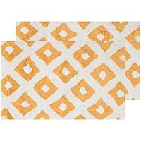 Safavieh 2-pack Diamond Geometric Bath Rug Set - 21'' x 34''