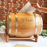 "Cathy's Concepts ""Love"" Wine Barrel Gift Card Holder"