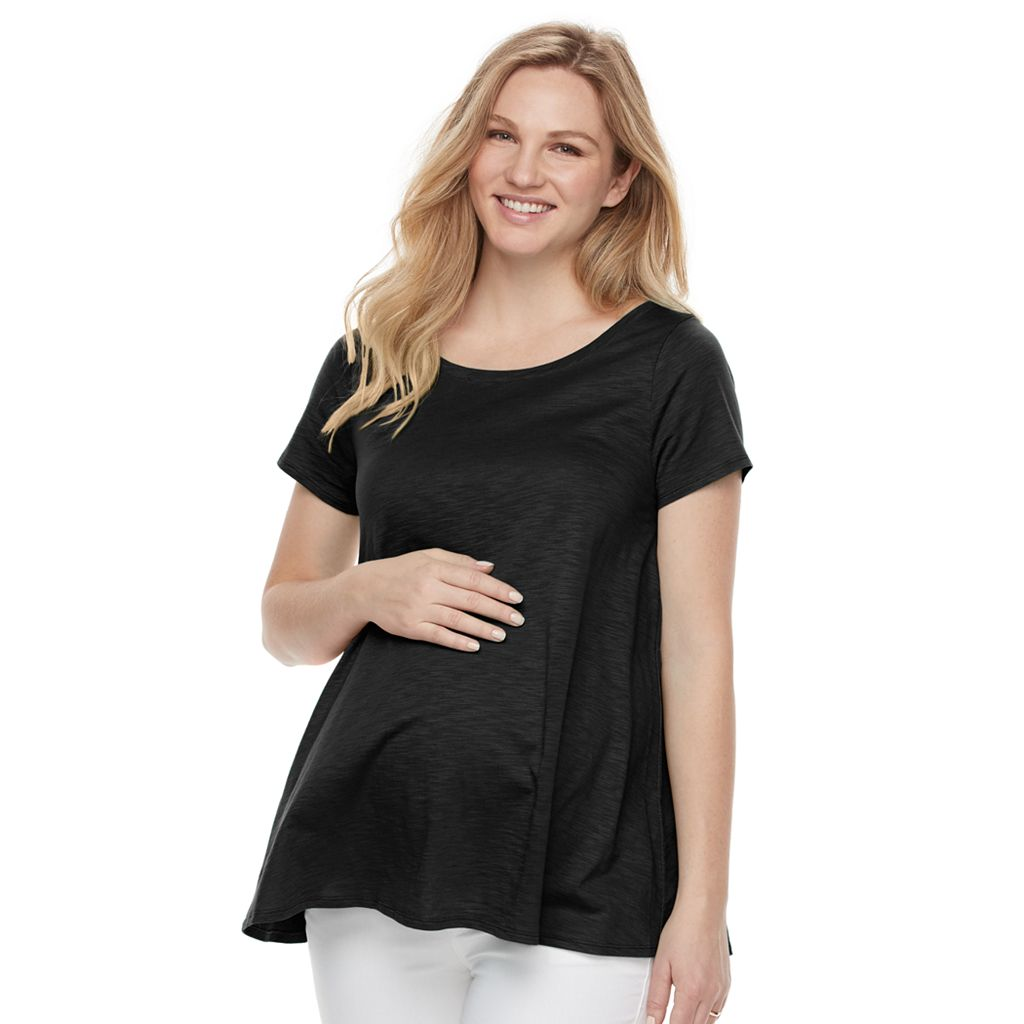 Maternity a:glow Solid Keyhole Tee