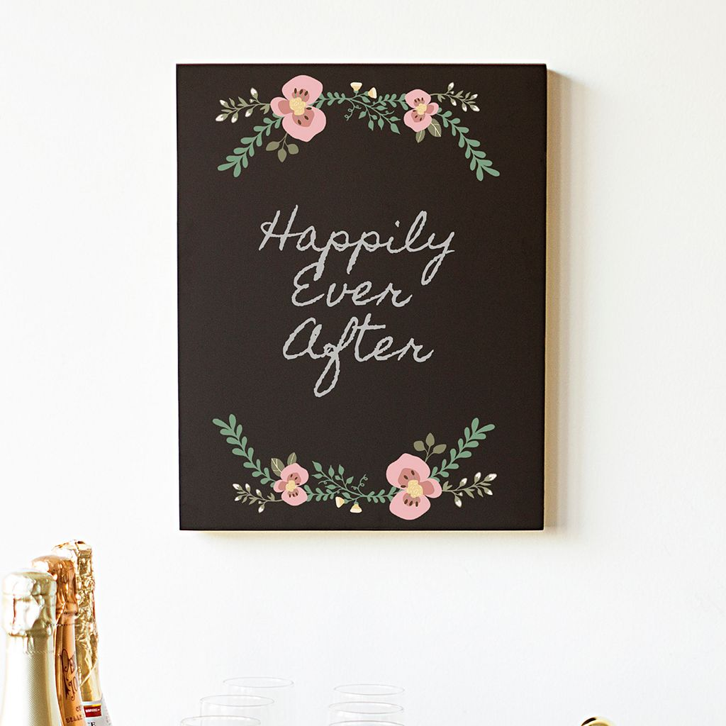 Cathy's Concepts Floral Chalkboard Sign Wall Decor