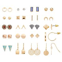 Seashell, Crescent & Geometric Earring Set