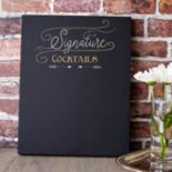 "Cathy's Concepts ""Signature Cocktails"" Chalkboard Sign Wall Decor"